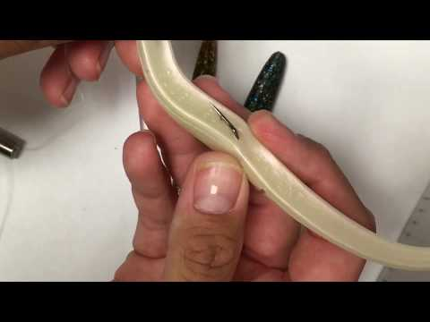 How To Set Up Weedless Lures Like Slug-go , Senko , Eels