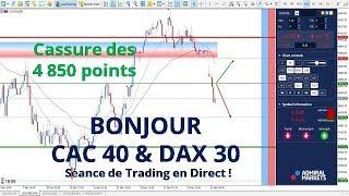 #CAC40 CFD - Séance de Trading en Direct - Bonjour CAC40 & DAX30 le 14/12