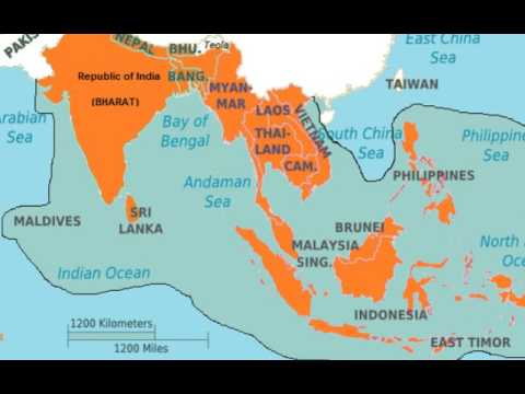 New Map Of Republic Of IndiaHind And Southeast Asia YouTube - Republic of maldives map