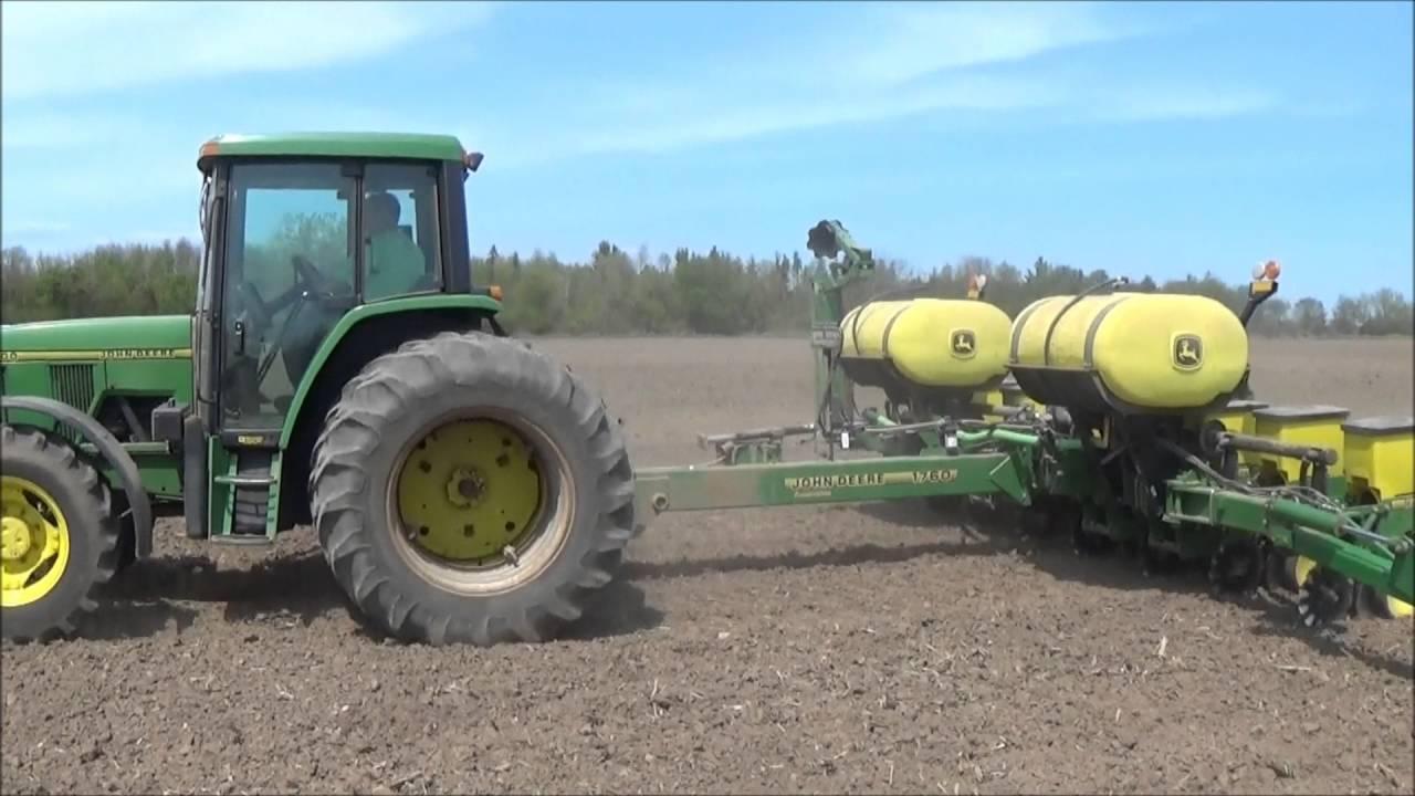 John Deere 6300 John Deere 1760 Planter Planting Soybeans Youtube