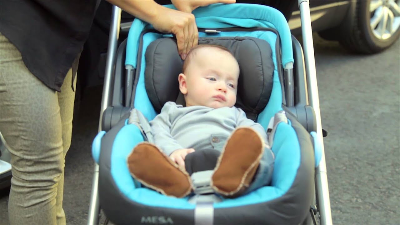 Uppababy MESA Instructional Securing Infant in Seat - YouTube
