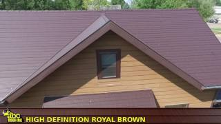 ABC Seamless Steel Roofing- HD Royal Brown