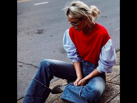 Mom jeans style in winter 2018