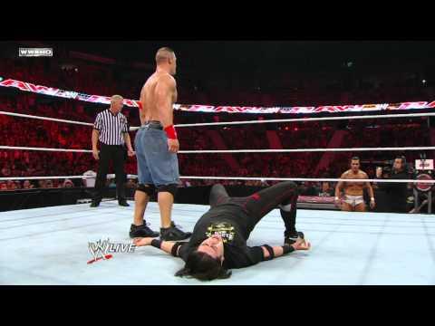 Raw  John Cena & Bret Hart vs. Alberto Del Rio & Ricardo Rodriguez