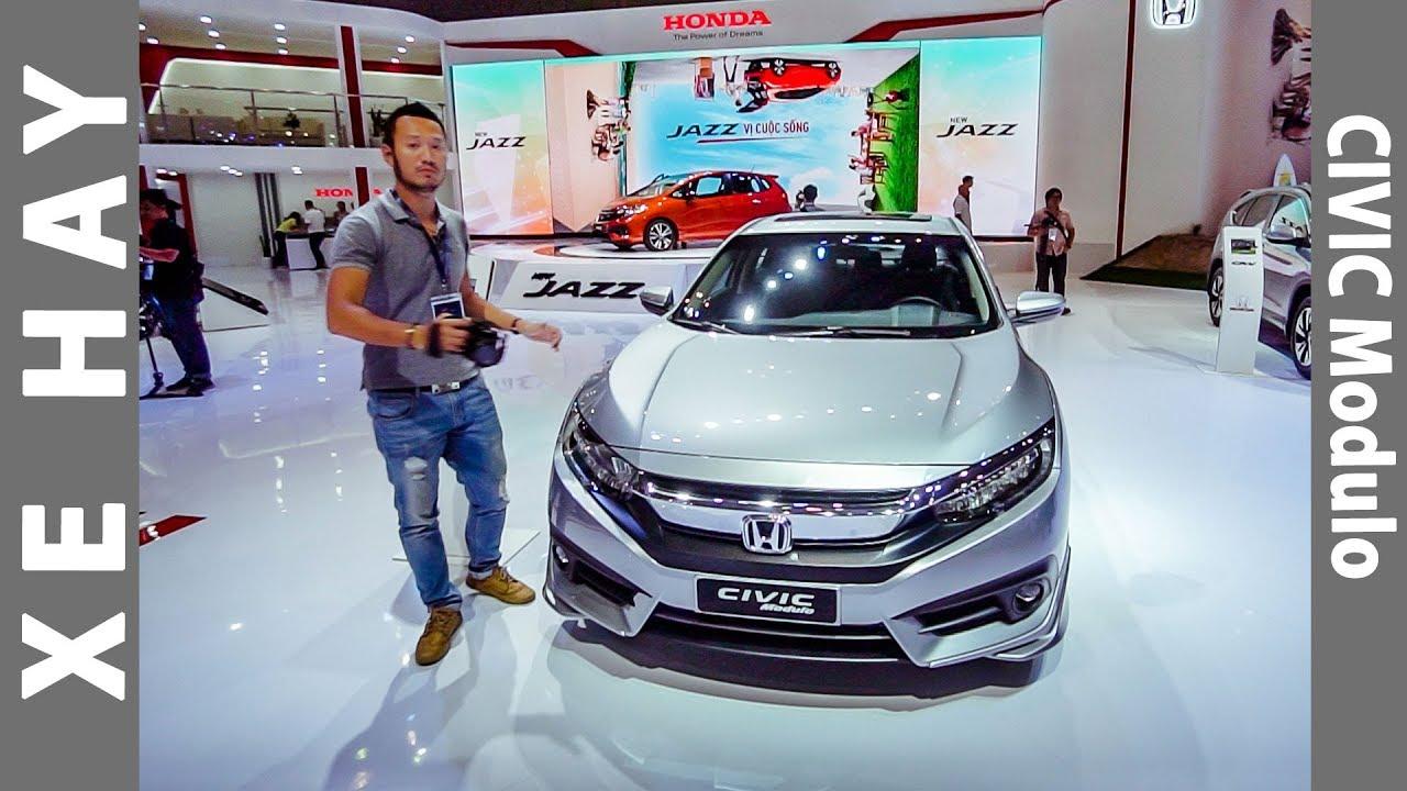 |VMS 2017| Soi chi tiết Honda Civic 1.5 với gói độ Modulo cực chất giá thêm hơn 50 triệu