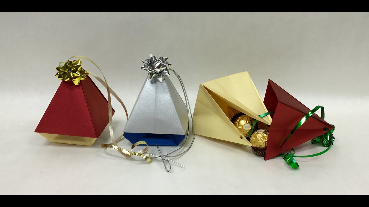 Origami Ornament Christmas Tree Box - YouTube
