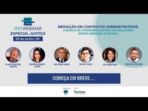 Webinar: Especial Justiça - Mediação em Contratos Administrativos