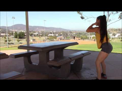 Bodyweight legs workout at the park