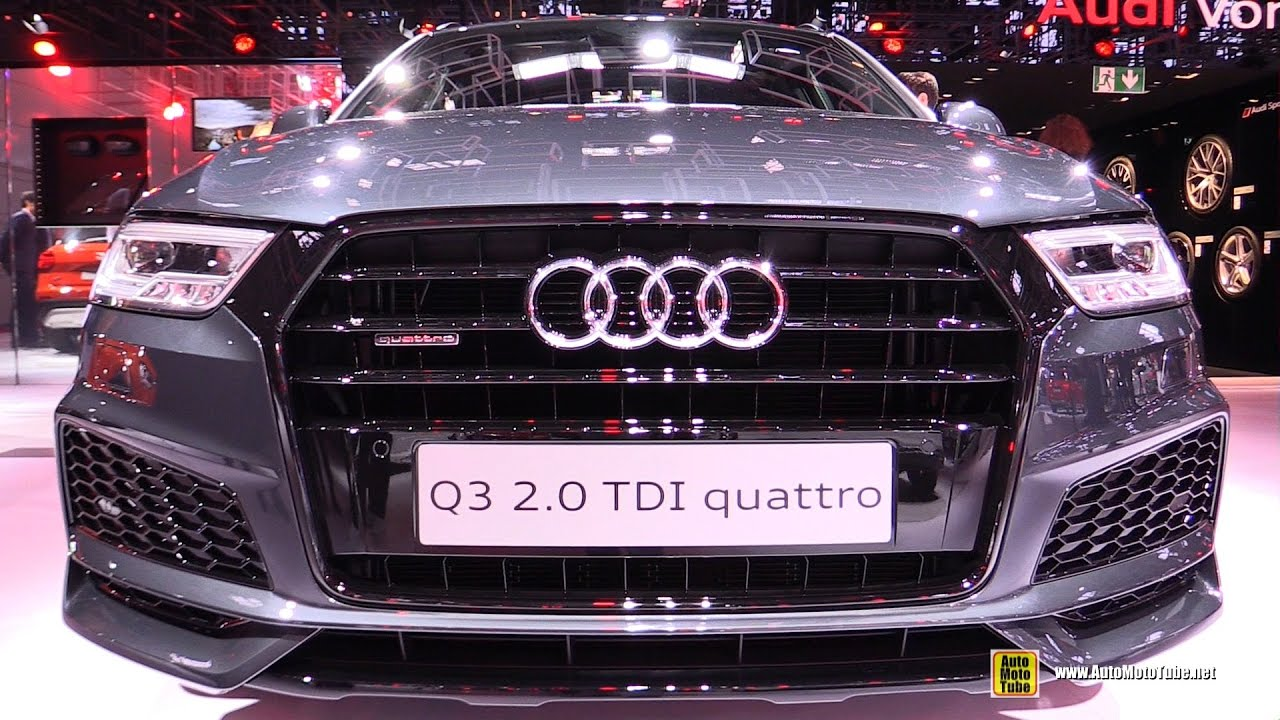 2017 audi q3 2 0 tdi quattro exterior and interior. Black Bedroom Furniture Sets. Home Design Ideas