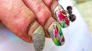 HARDWORKER WOMAN'S #NAILS  #TRANSFORMATION | SHE IS NOT ANT SHE IS BEAUTIFUL NO MATTER WHAT THEY SAY