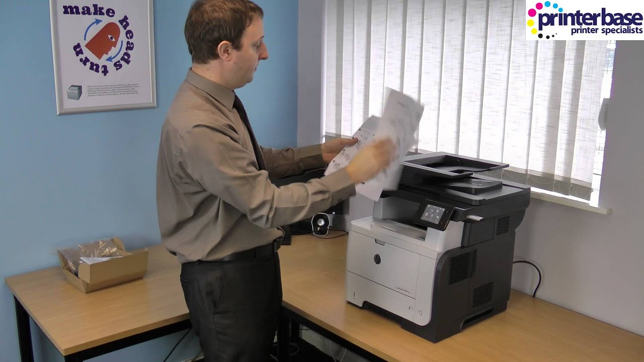hp laserjet pro m521 mono laser multifunction printer review youtube