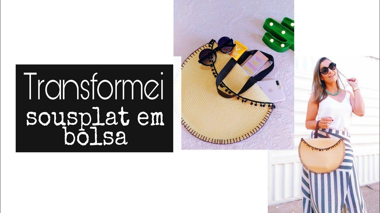 f85c4d901 DIY - BOLSA FEITA COM SOUSPLAT   por Alinne Tavares - YouTube