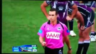 NRL - Joel Thompson MONSTER HIT!!! and Fight