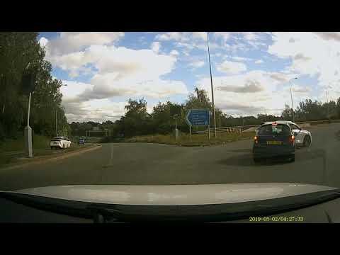 Roundabout Crash Prestwich