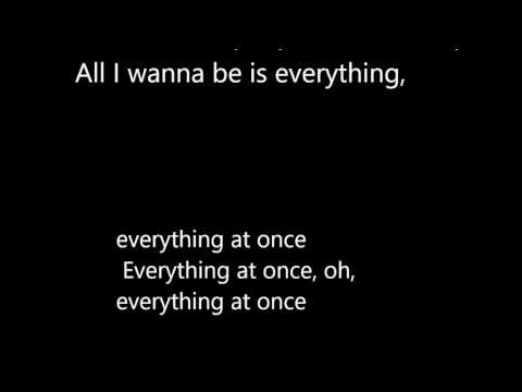 LIRIK LAGU LENKA - EVERYTHING AT ONCE