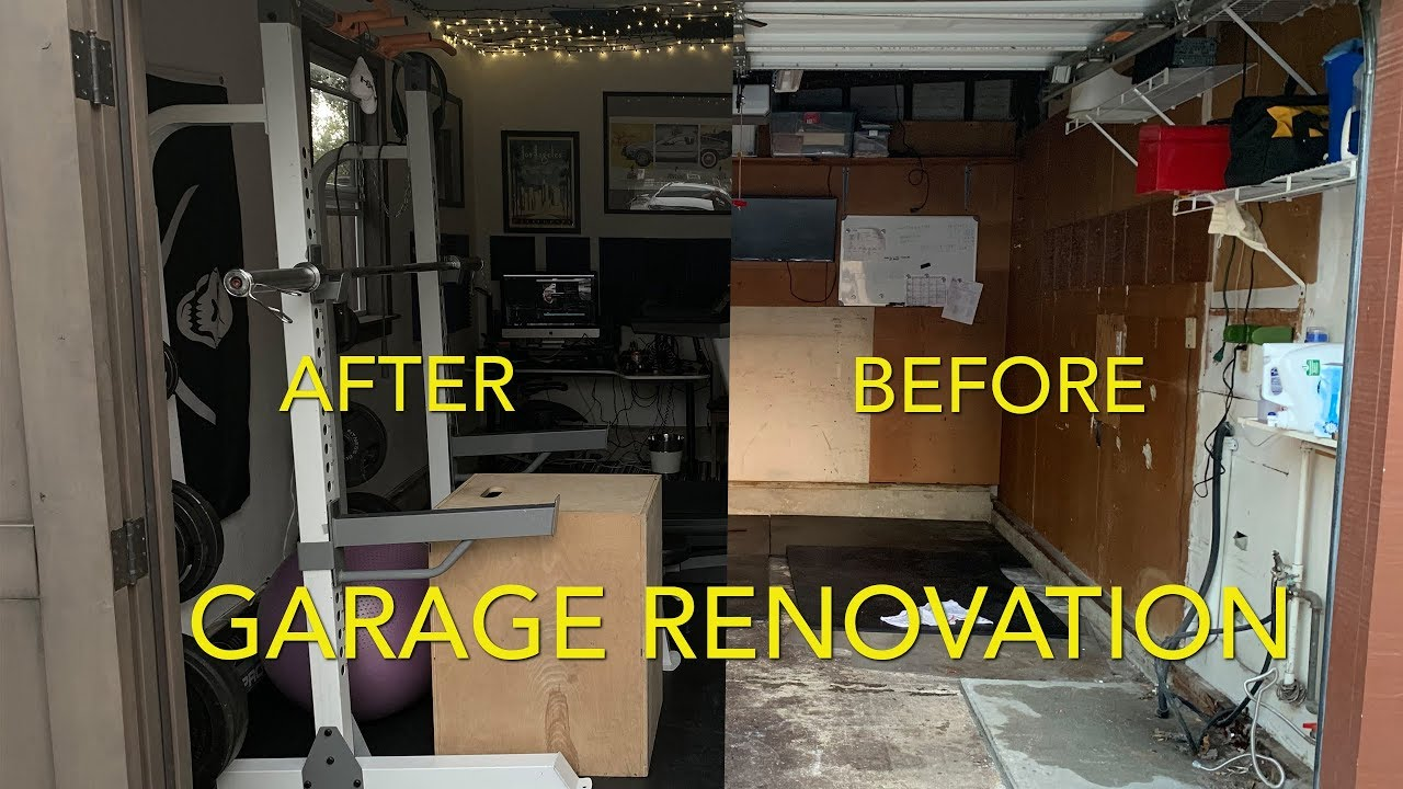 Garage Renovation Into Podcasting Studio Gym Laundry Man