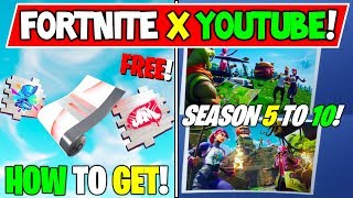 *NEW* How To Get FREE Fortnite X YouTube Items! + Season 5 to 10 EVENT Insane Story Theory!