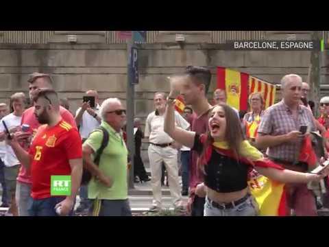 Barcelone : marche d'extrême droite contre l'indépendance de la Catalogne