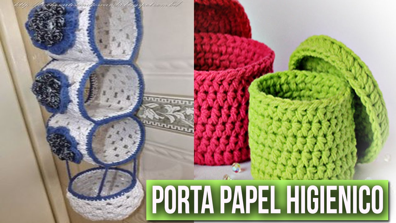 Organizador De Baño En Crochet:Crochet a Porta Papel Higienico
