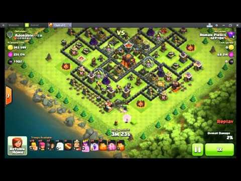 Clash Of Clans-Best Tricks loot with QA & 8 Healer