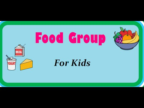 Food Pyramid - Nutrition Table - Food and its groups for kids - YouTube