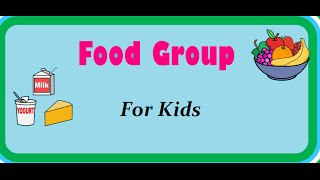 Food Pyramid - Nutrition Table - Food and its groups for kids