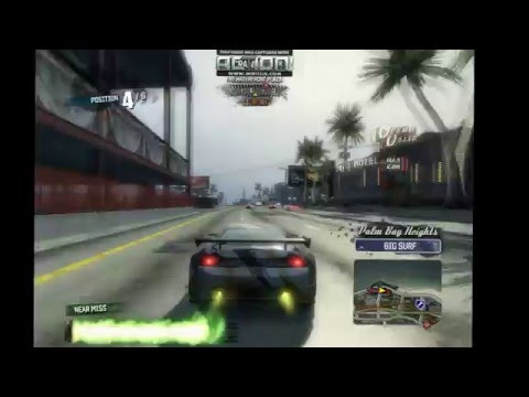 Burnout Paradise : Race towards the SOUTH EAST TO THE WATERFRONT PLAZA