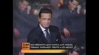 Luis Miguel : Bromista con su micrófono jajaja