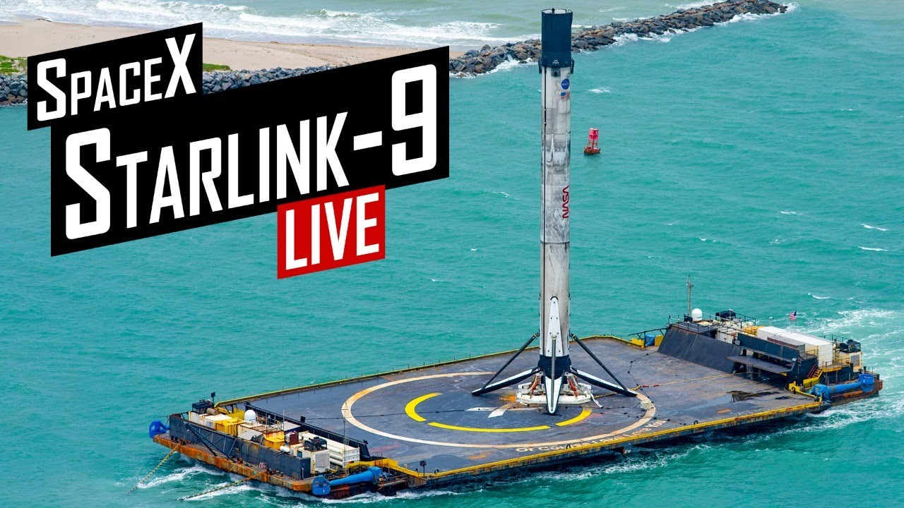 SpaceX Starlink 9 Launch 🔴 Live