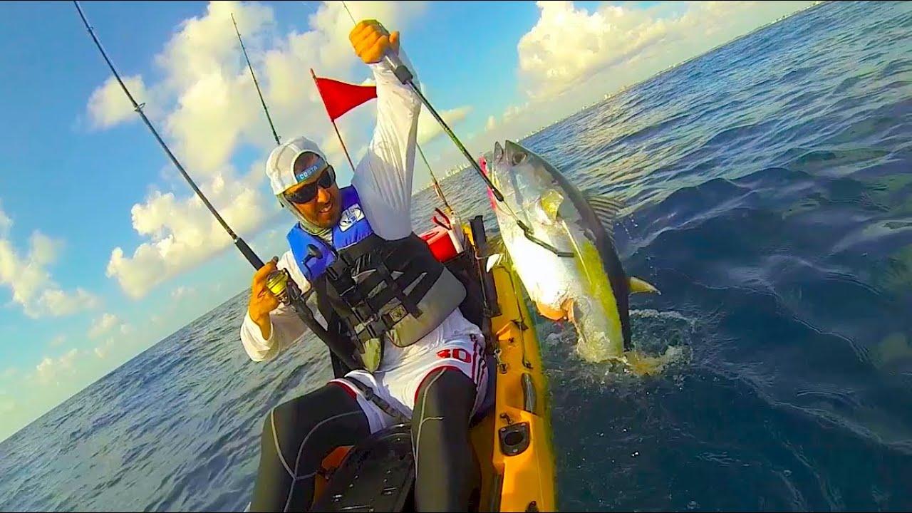 Shark Attack Tuna On A Kayak South Florida Kayak Fishing