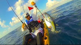 Shark Attack tuna on a kayak, South Florida Kayak Fishing