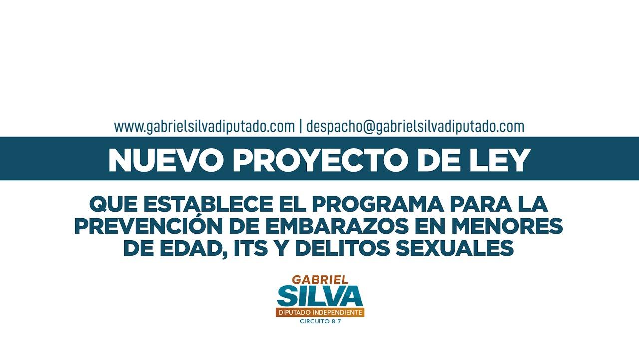 Gabriel Silva - Proyecto de ley para la prevención de embarazos en menores de edad