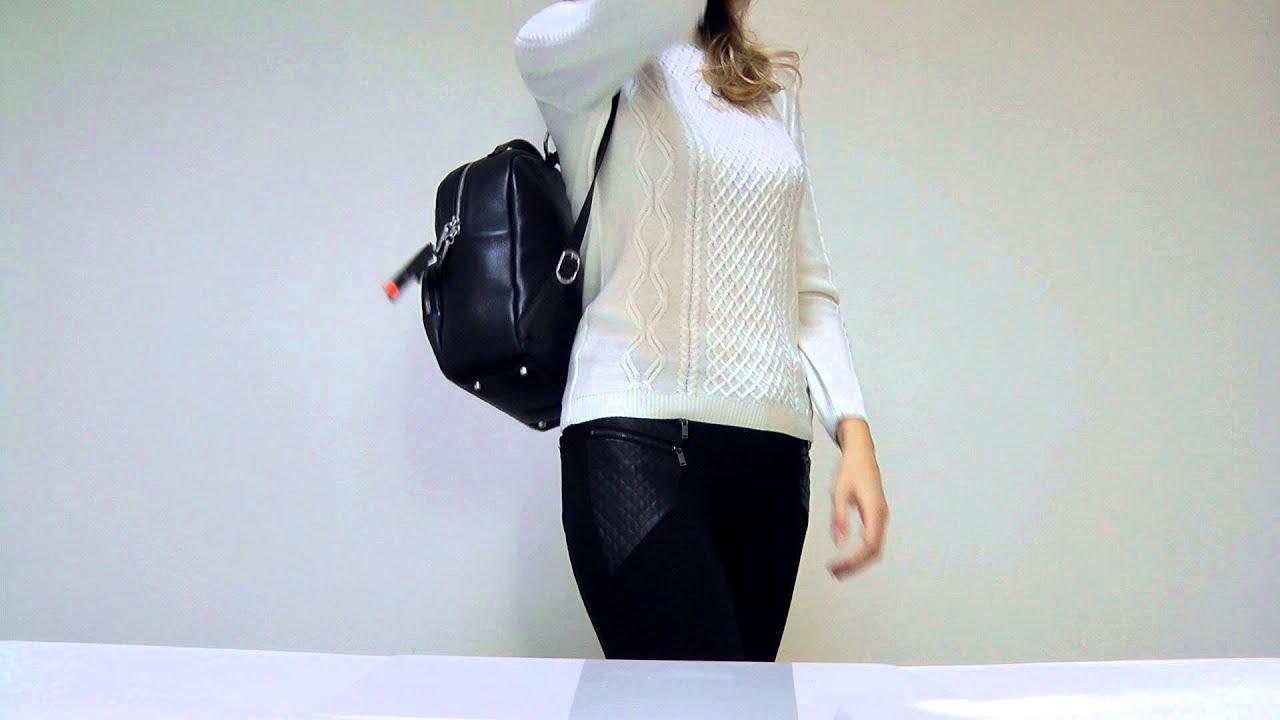 Женский городской рюкзак из кожзама Fancy черный матовый. Купить в .