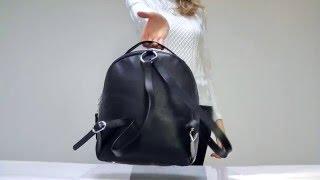 Кожаный рюкзак женский черный(Кожаный рюкзак женский черный