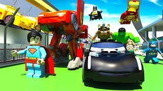 Download LEGO Lightning McQueen & Jackson Storm TRANSFORMERS CARS Olympics Race HULK & Teams Disney Pixar Mp3 and Videos