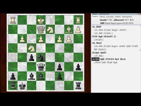 Blitz chess postmortem #815: Van't Kruijs opening