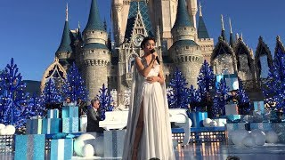 Jhené Aiko performing at Disney Land for a Christmas Celebration (2015)