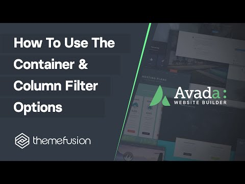 How To Use The Container & Column Filter Options Video