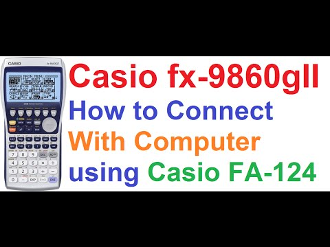 Casio fx-9860gII Graphing Calculator #1_How To Connect With Computer Using FA-124 PC Link Software