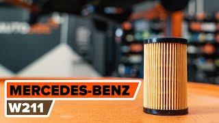 Kā nomainīt Eļļas filtrs MERCEDES-BENZ E-CLASS (W211) - tiešsaistes bezmaksas video