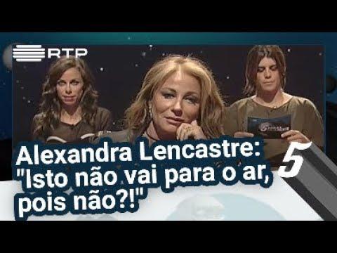 Pressão no Ar - Alexandra Lencastre: 'Isto não vai para o ar, pois não?!' - 5 Para a Meia-Noite