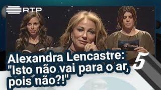 """Pressão no Ar - Alexandra Lencastre: """"Isto não vai para o ar, pois não?!"""" - 5 Para a Meia-Noite"""
