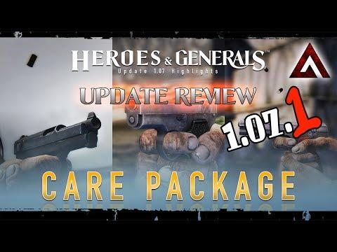 Heroes & Generals. 1.07.1 Care Package Update review. Обзор обновления