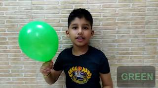 Learn colors with colorful Balloons | kids learning video