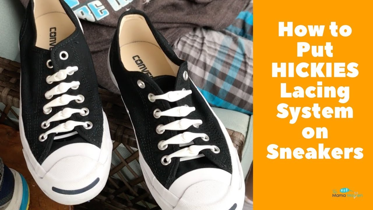 06f99d967ad5 How to Put HICKIES Elastic Lacing System on Sneakers - YouTube