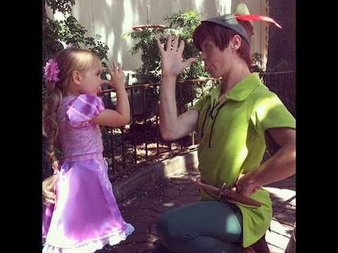 This little girl wears the cutest homemade costumes to Disneyland.