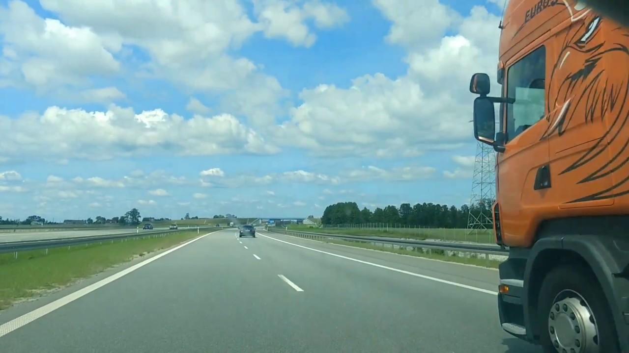 Highway A1 Poland / Шоссе A1 Польша / Autopista A1 Polonia /Autobahn A1 Polen /
