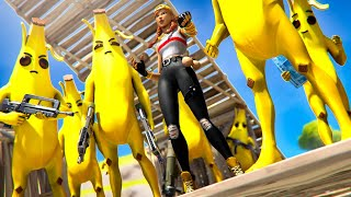 SKYBASING WITH A BANANA ARMY OVER FASHION SHOWS