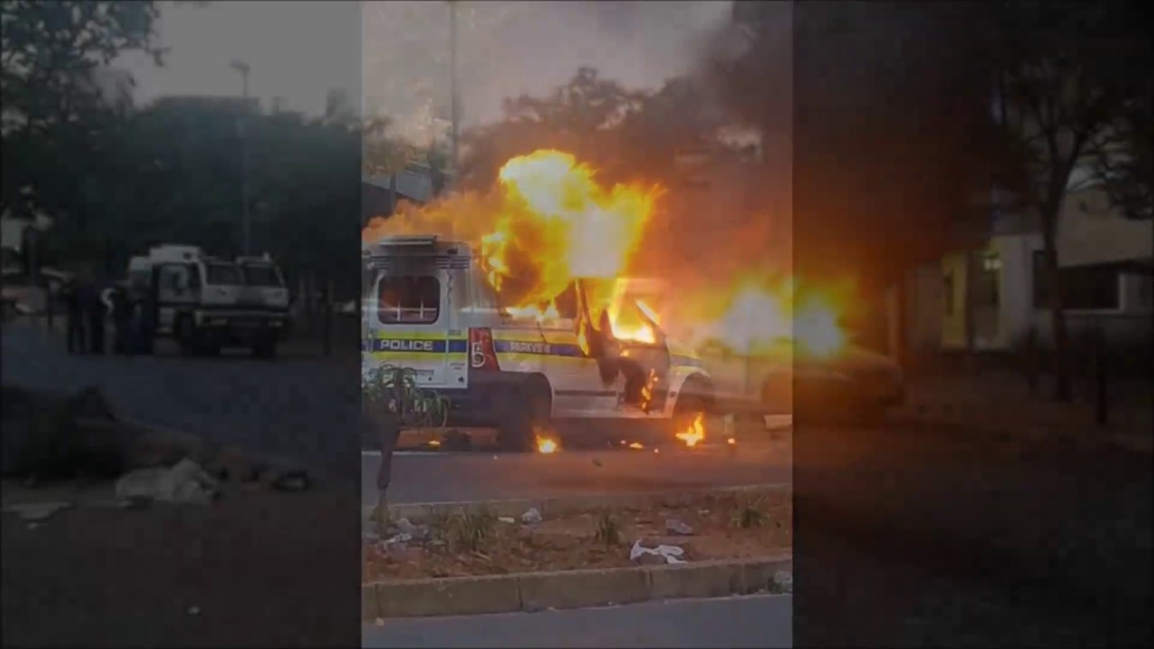 Braamfontein South Africa - Violent #Fees Must Fall Student Protests