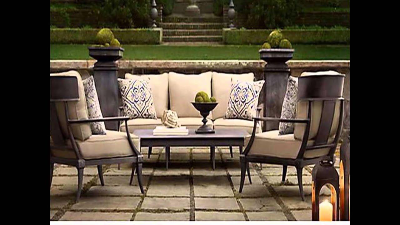 restoration hardware patio furniture - YouTube